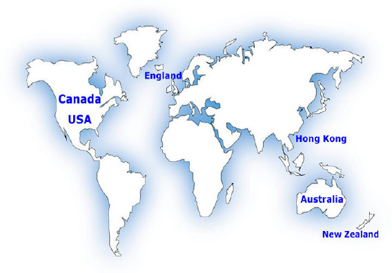 Hong Kong children were adopted to these countries.